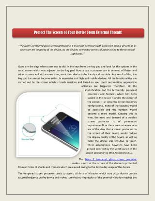 Protect The Screen of Your Device From External Threats!