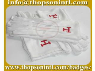 Masonic Cotton Gloves with Royal arch emblem