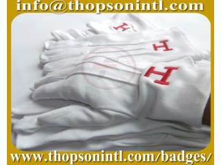 Masonic Cotton Gloves Royal Arch emblem