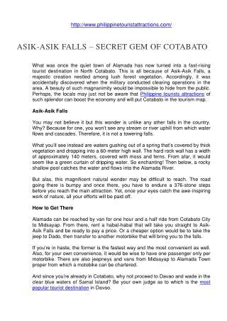 Asik-Asik Falls - Secret Gem of Cotabato