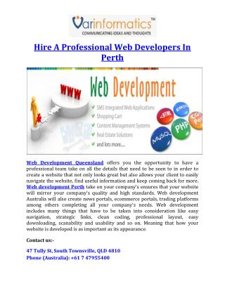 Hire A Professional Web Developers In Perth