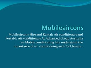 Hire & Rentals Air conditioners & Portable Air conditioners