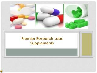 Natural Supplements By Premier Research Labs