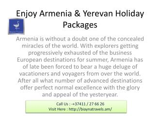 Yerevan tour package from India: - 37411 / 27 66 26