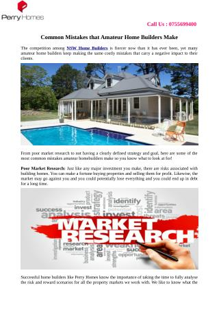 Common Mistakes that Amateur Home Builders Make