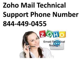 Zoho Mail Technical Support Phone Number 888-467-5540