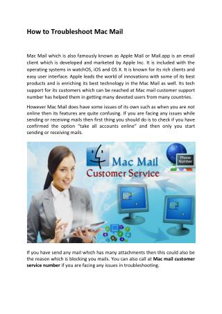 How to Troubleshoot Mac Mail