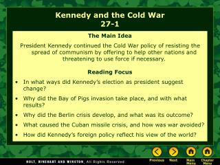 Kennedy and the Cold War 27-1