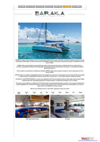 Sailing Catamaran Baraka at Affordable Cost | Nicholson Yacht Charters & Services