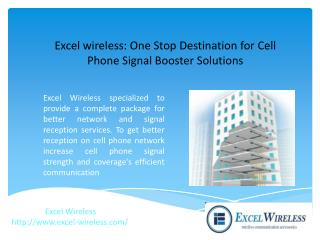 One Stop Destination for Cell Phone Signal Booster Solutions