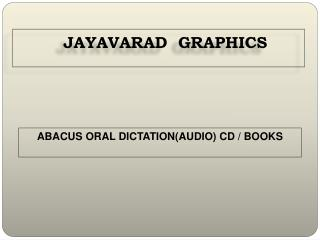 ABACUS ORAL DICTATION(AUDIO) CD / BOOKS