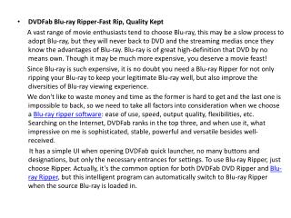 DVDFab Blu-ray Ripper-Fast Rip, Quality Kept