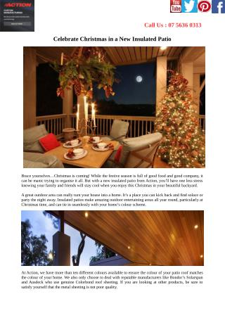 Celebrate Christmas in a New Insulated Patio