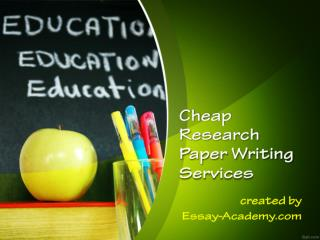 Cheap Research Paper Writing Services