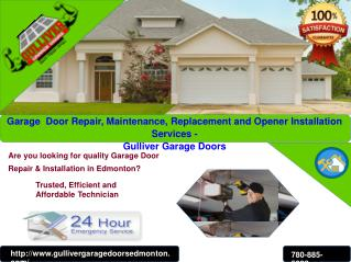 Edmonton Garage Door, Repair, Replacement & Installation Service
