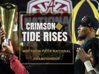 Crimson Tide rises