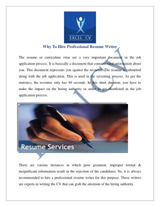 Resume Writing Services India, CV Service