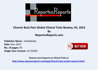 Chronic Back Pain Global Clinical Trials Review H2 2015