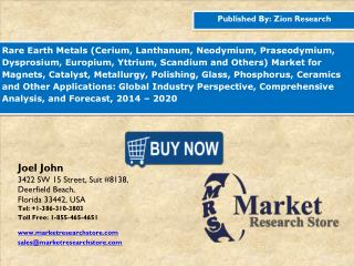 Global Rare Earth Metals Market is Expected to Reach Around USD 9.0 billion in 2020