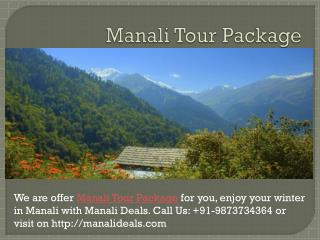 Manali Tour Package | Manali Tourism