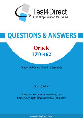 Oracle 1Z0-462 Test Questions