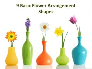 9 Basic Flower Arrangement Shapes