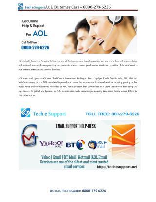 AOL Customer Care – 0800-279-6226