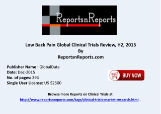 Low Back Pain Global Clinical Trials Review H2 2015