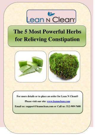 The 5 Most Powerful Herbs for Relieving Constipation