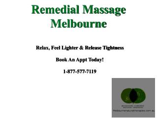 Online book appointment - Remedial Massage therapy