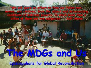 The MDGs and Us