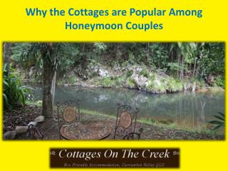 Why the Cottages are Popular Among Honeymoon Couples