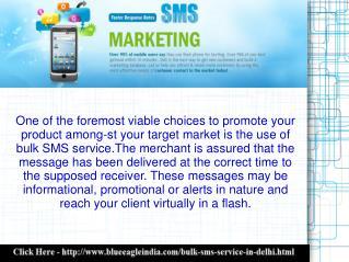 Bulk SMS Company in Delhi