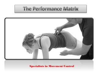 Get the Best Functional Movement Training from The Performance Matrix