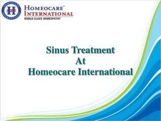 Complete solution for sinus infection with Homeopathy