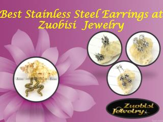 Best Stainless Steel Earrings at Zuobisi  Jewelry
