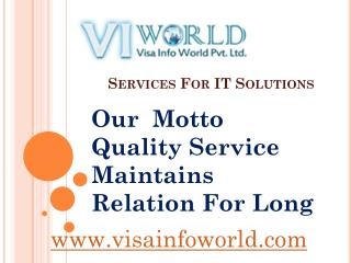 visa info world IT at solution india-visainfoworld.com