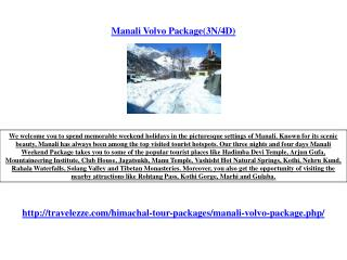 Manali Volvo Package(3N/4D)