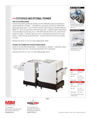 MBM Stitchfold Booklet Maker at US$ 11,999.00 - Printfinish.com