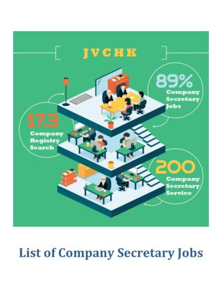 List of Company Secretary Jobs