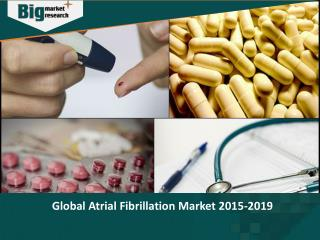Atrial Fibrillation market to grow at a CAGR of 11.05 percent over the period 2014-2019.