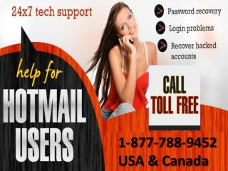 Get help for Hotmail issues call Hotmail help 1-877-788-9452 tollfree number