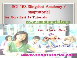 SCI 163 Slingshot Academy - snaptutorial.com
