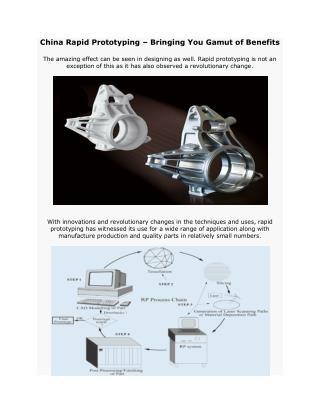 China Rapid Prototyping Bringing You Gamut of Benefits
