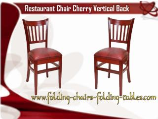 Restauant Chair Cherry Verticle Back- Larry Hoffman Chair