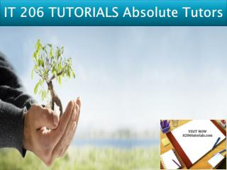 IT 206 TUTORIALS Absolute Tutors/it206tutorials.com