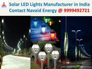 Solar LED Lights manufacturer India Contact Navaid Energy