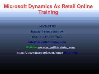 Microsoft Dynamics AX Retail Online Training in uk