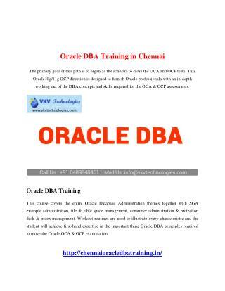 Oracle DBA Training in Chennai