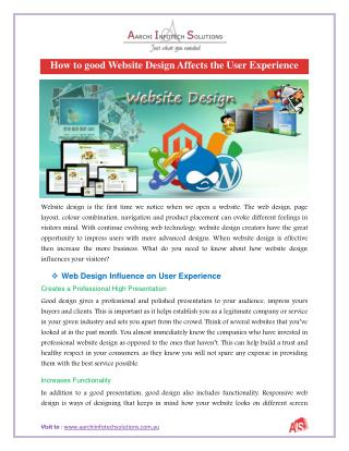 How to good Website Design Affects the User Experience